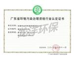 环境污染治理资格证书
